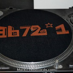 Slipmats 3672 Black Red