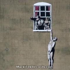 Tarpaulin Banksy Window