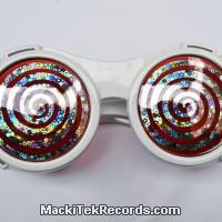 White Glasses cyber spiral
