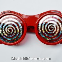 Lunettes cyber-spiral Rouge