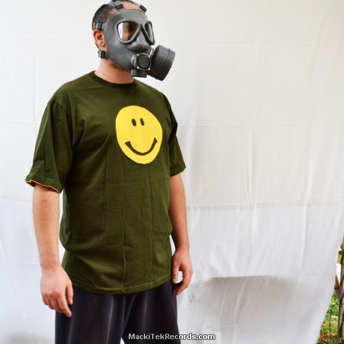 T-Shirt Kaki Smiley Jaune