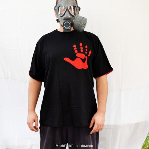 T-Shirt Noir Red Hand