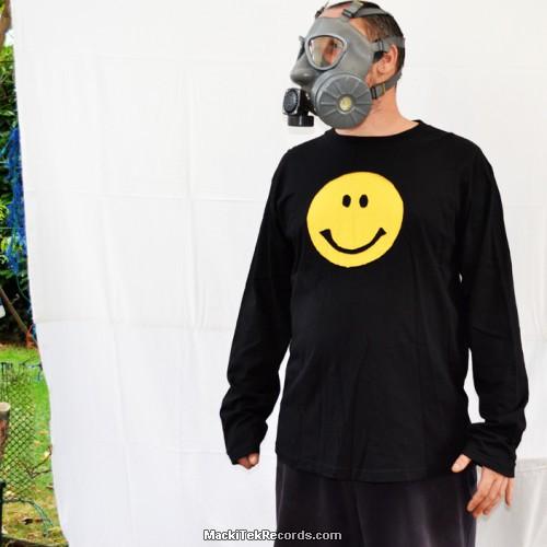 Sweat Noir Smiley Jaune
