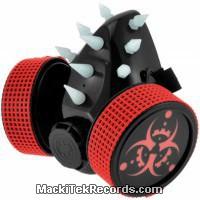 Gas Mask Cyber Red Biohazard