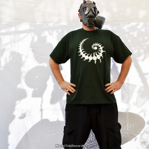 T-Shirt Green Crop Circle 01