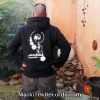 Veste Zip Noir MackiTek Records