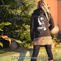 Veste Zip Noire MackiTek Records Femme