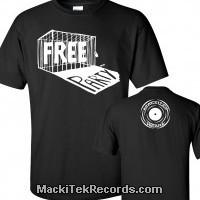 T-Shirt Noir MackiTek Free Party