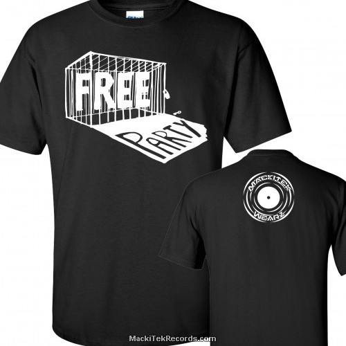 T-Shirt Noir MackiTek Free Party