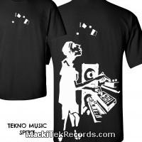 T-Shirt Noir MackiTek Tekno Music Spirit