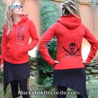 Veste Zip Rouge We Are Pirates
