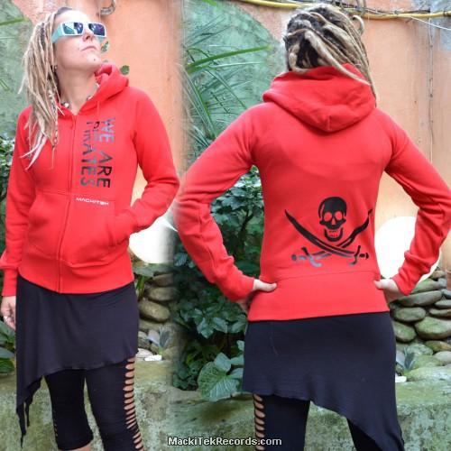 Veste Zip Rouge We Are Pirates