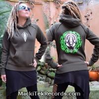 Sweat Kaki Femme MackiTek Mystik Alien Perfect Green