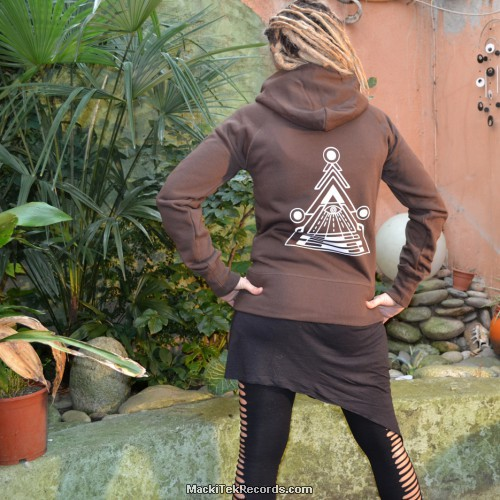 Veste Zip Marron Dark MackiTek Solar Pyramid V2