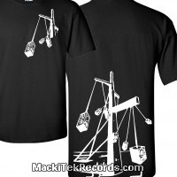 T-Shirt Noir MackiTek Futur Sound System