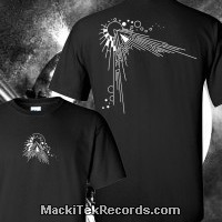 T-Shirt Noir MackiTek Abstract Solar