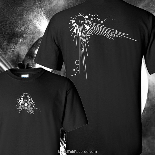 T-Shirt Noir MackiTek Abstract Solar