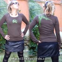 T-Shirt Manches Longues Marron Dark MackiTek Abstract Solar Perfect Green