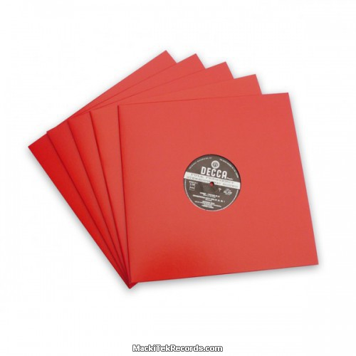 x5 Pochettes Rouge 12 Inches