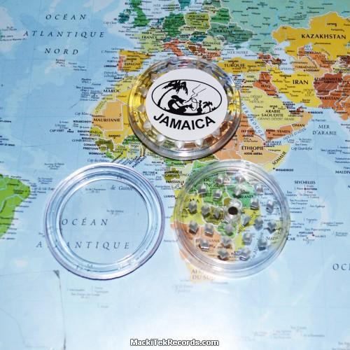 Grinder Jamaica aimanté 3 Part Transparent