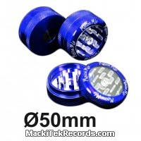 Grinder Alu Puch Up 2 Part 50mm Bleu