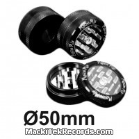 Grinder Alu Puch Up 2 Part 50mm Noir