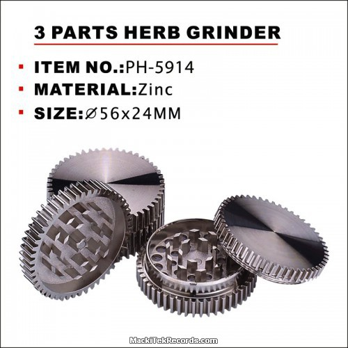 Grinder Dentelé Alu 3 Parts 56mm