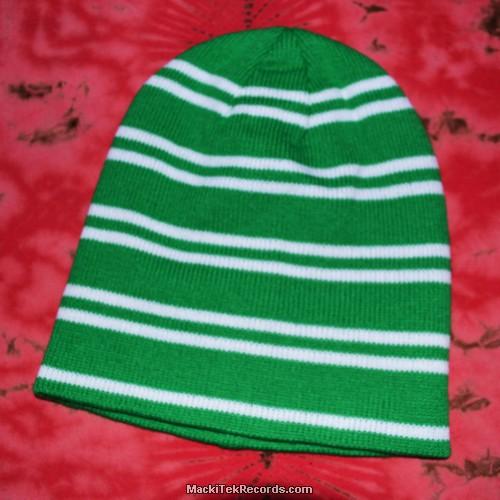 Bonnet Vert et Blanc