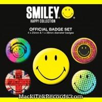 Pack de 5 Badges Smiley