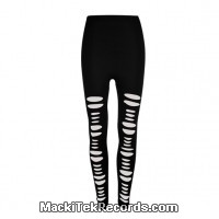Leggings Noir Slashed