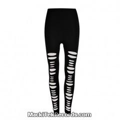 Leggings Noir Slashed