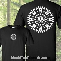 T-Shirt Noir Sun Effect