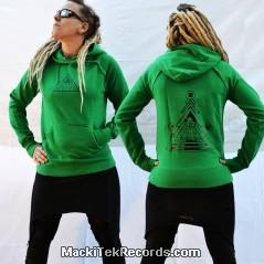 Sweat Vert Femme MackiTek Solar Pyramid V2
