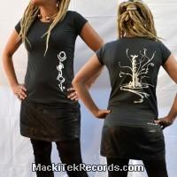 T-Shirt Gris Femme MackiTek Unexplored