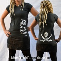 T-Shirt Gris M Femme MackiTek We Are Pirates