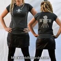 T-Shirt Gris Femme MackiTek Nazca Bird
