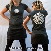 T-Shirt Gris Femme MackiTek Multi Eyes