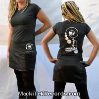 T-Shirt Gris Femme MackiTek Records