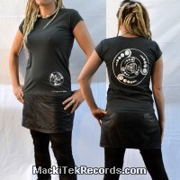 T-Shirt Gris Femme MackiTek Crop Circle 08