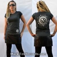 T-Shirt Gris Femme MackiTek Crop Circle 10