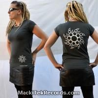 T-Shirt Gris Femme MackiTek Crop Circle 14
