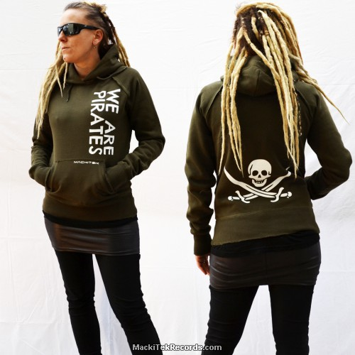 Sweat Kaki Femme MackiTek We Are Pirates