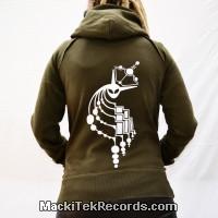 Sweat Kaki S Femme MackiTek Crop Circle 03