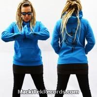 Sweat Femme Electric Blue MackiTek Crop Circle 03 V2