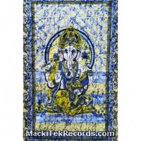 Tenture Ganesh Batik Bleu