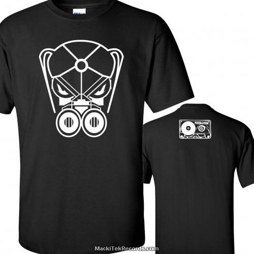 T-Shirt Noir MackiTek Gaz Mask 01