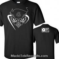 T-Shirt Noir MackiTek Gaz Mask 02
