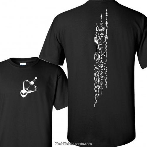 T-Shirt Noir Crop Circle Script