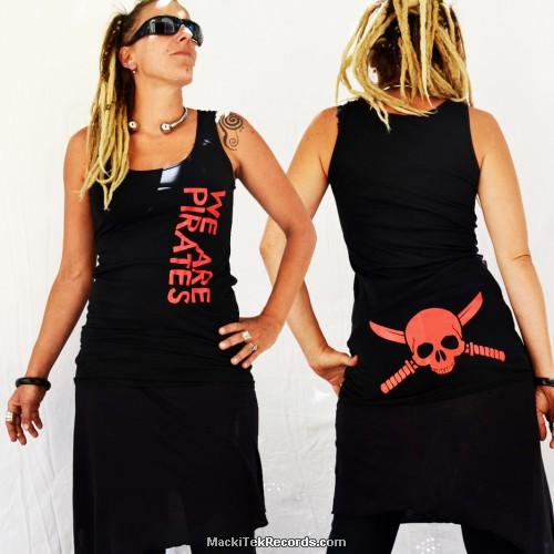 Tunique Noire We Are Pirates V2