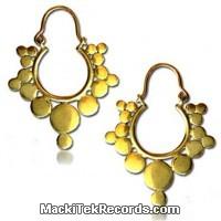 Boucles dOreille Small brass dots earing